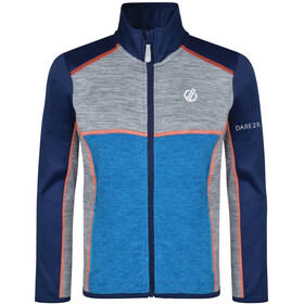 Dare 2b Exceed Core Stretch Jacket Boys Clearwater Blue/Gravity Grey Marl
